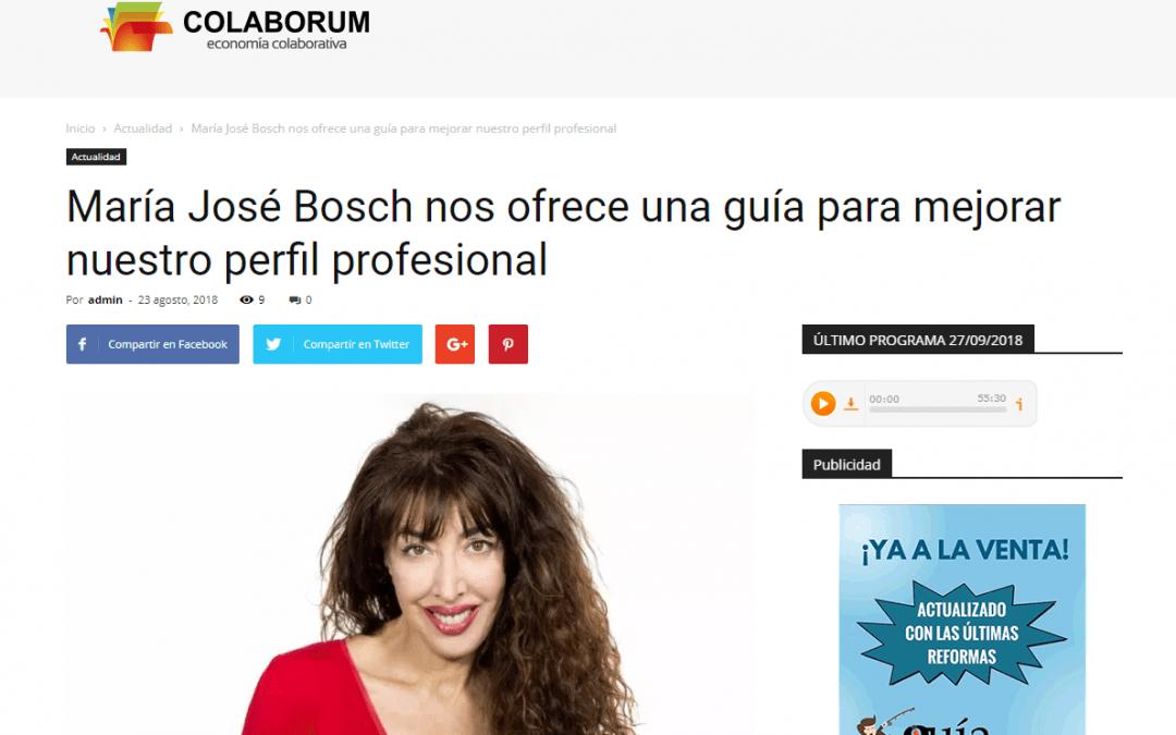 El GuíaBurros: Marca Personal y María José Bosch, en la web de empresa Colaborum